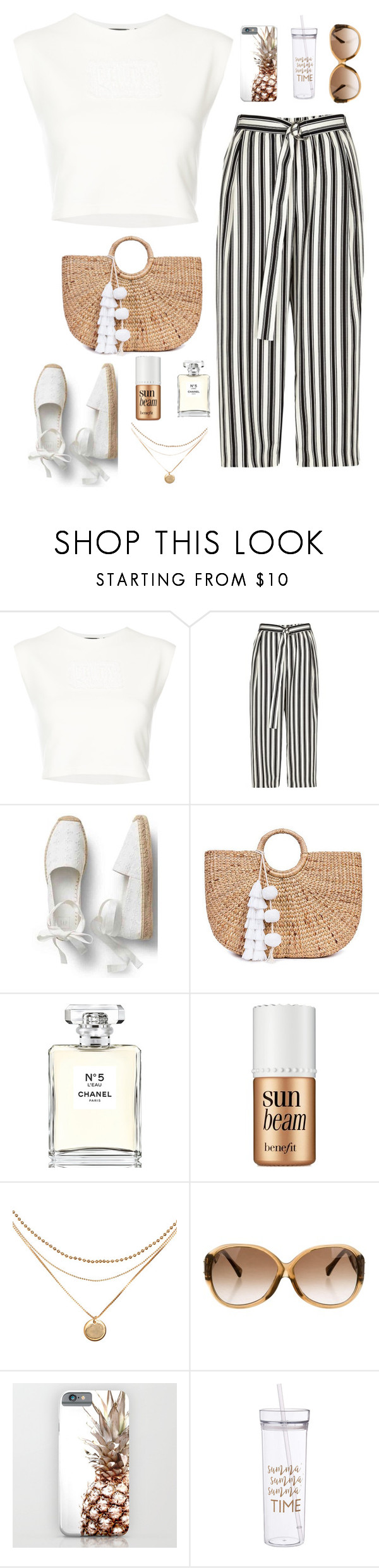 """Untitled #3"" by michaela-novosadova ❤ liked on Polyvore featuring Puma, River Island, JADE TRIBE, Chanel, Benefit and Louis Vuitton"