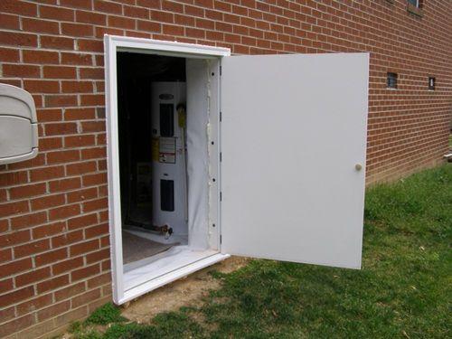 Crawl space doors pvc crawl space access doors home for Exterior basement access doors
