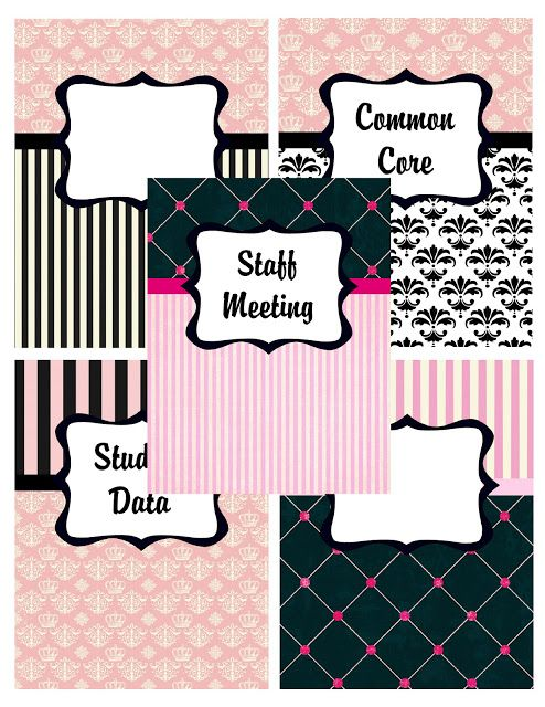 Teacher planner printables- lesson plan, cover page dividers