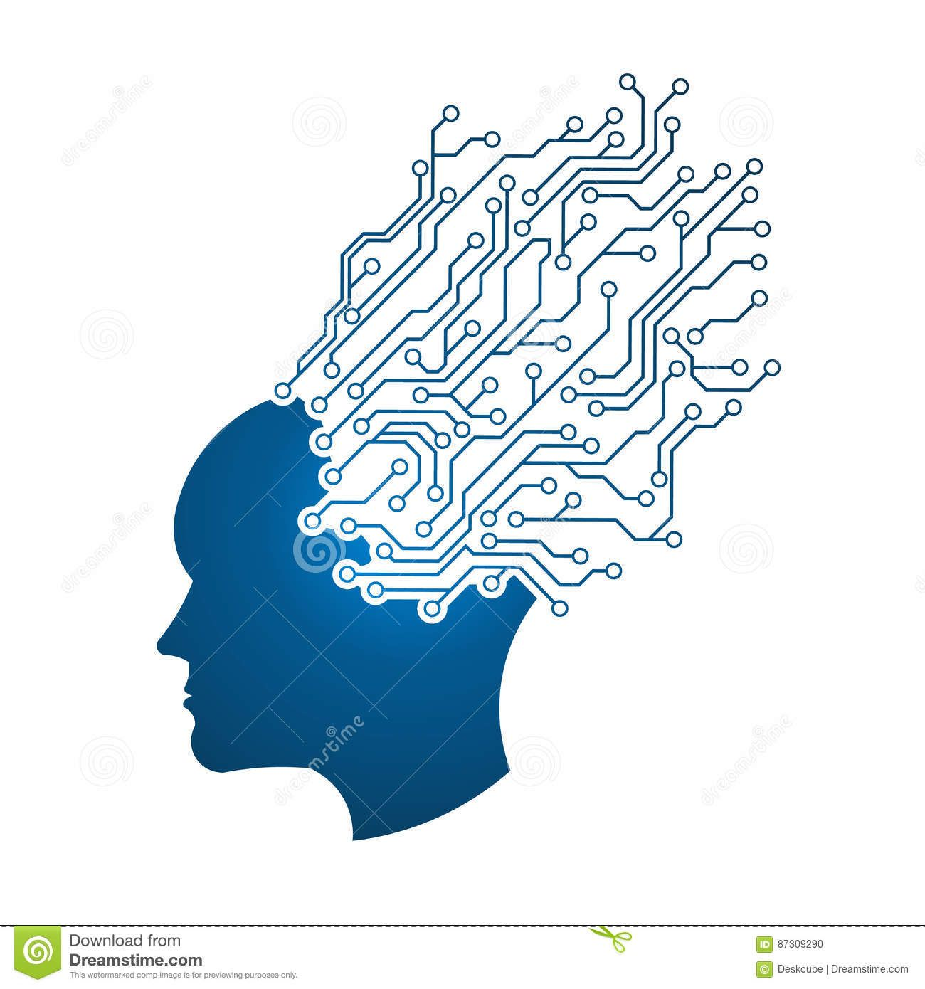 Electronic Circuit Man Head Logo Dreamstime 3d Math Logos Electric Symbol Element Set Illustration Vectorielle Libre De
