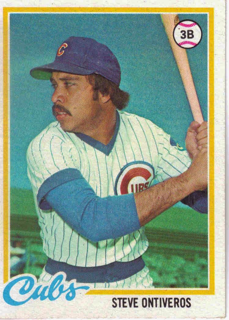 STEVE ONTIVEROS Chicago cubs history, Baseball cards