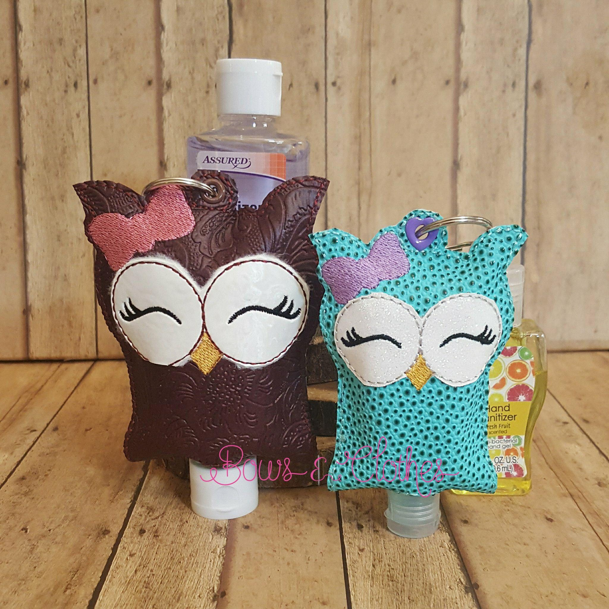 Owl Girl Open Tab Hand Sanitizer Hand Embroidery Stitches