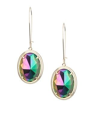 Jane Drop Earrings In Black Iridescent Kendra Scott Jewelry Coming July
