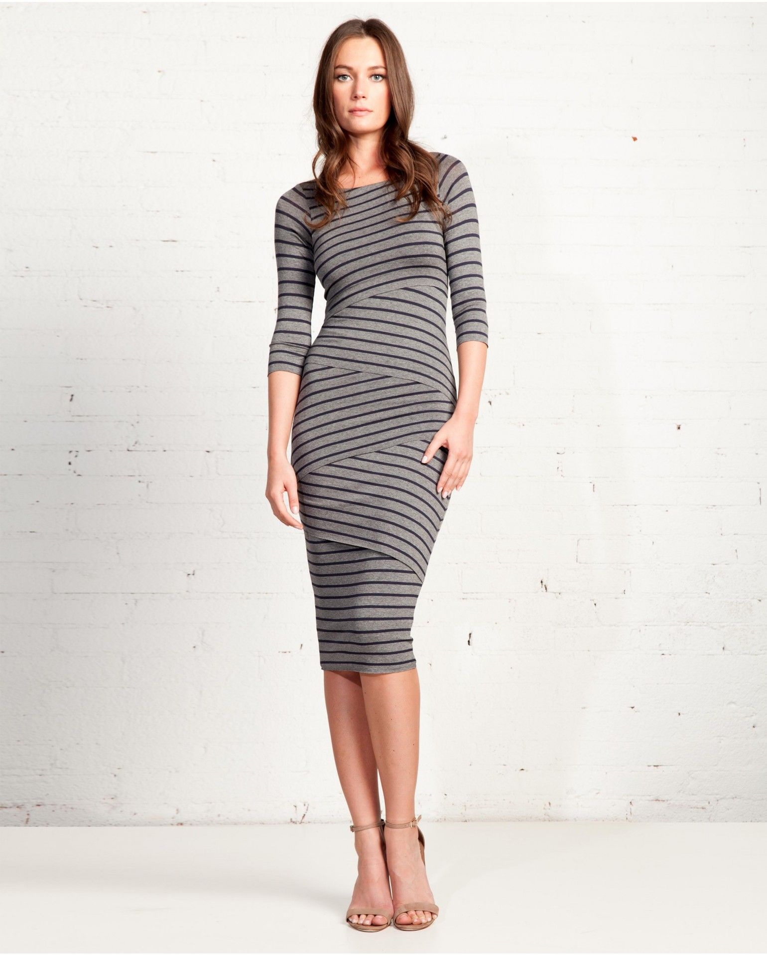 Signature Striped Column Dress | Bailey44