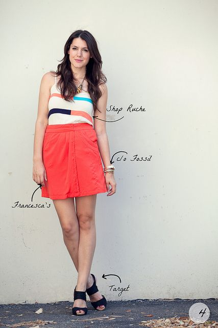 I love everything about this skirt and top combo!
