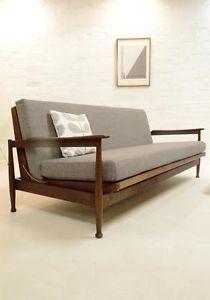 Guy Rogers Sofa Bed Retro Vintage Danish 50s 60s Heals Day Mid Century Modern Ebay