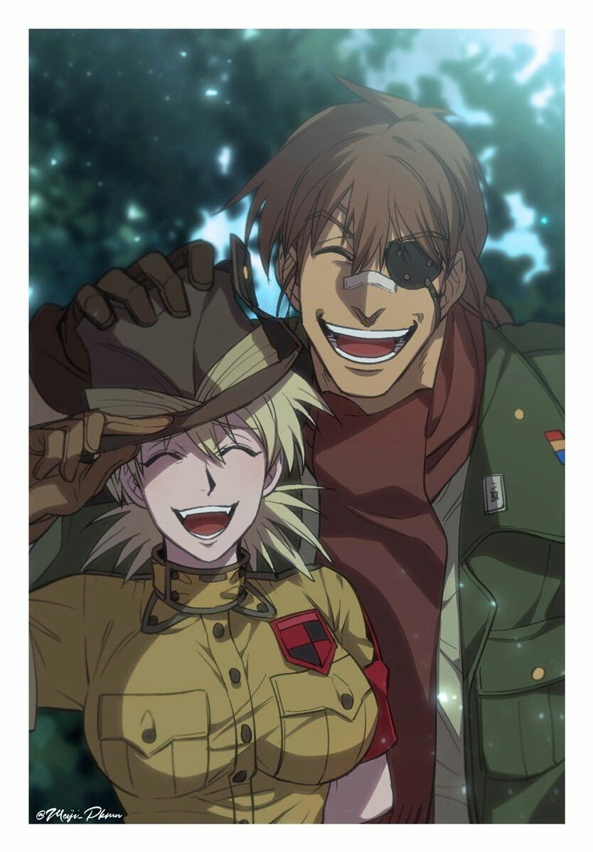 They look cute together. Hellsing ultimate anime