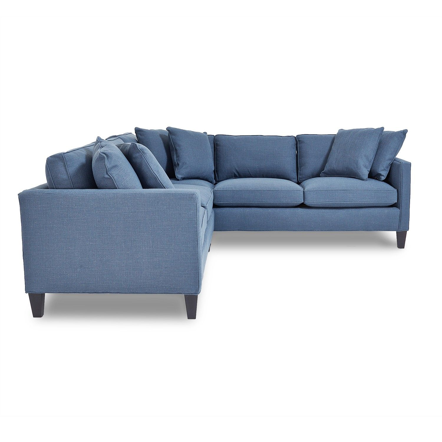 Modern lines meet Americana design in the Lora sectional a vision