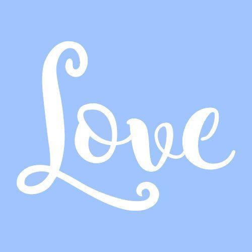 7 love stencil stencils template templates craft word words paint