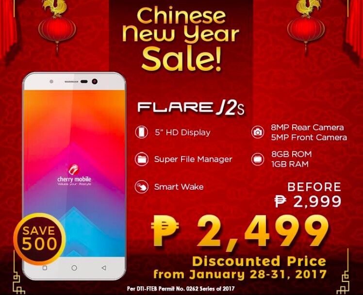 Deal Alert: Cherry Mobile Flare J2S only Php2,499 from January 28 to