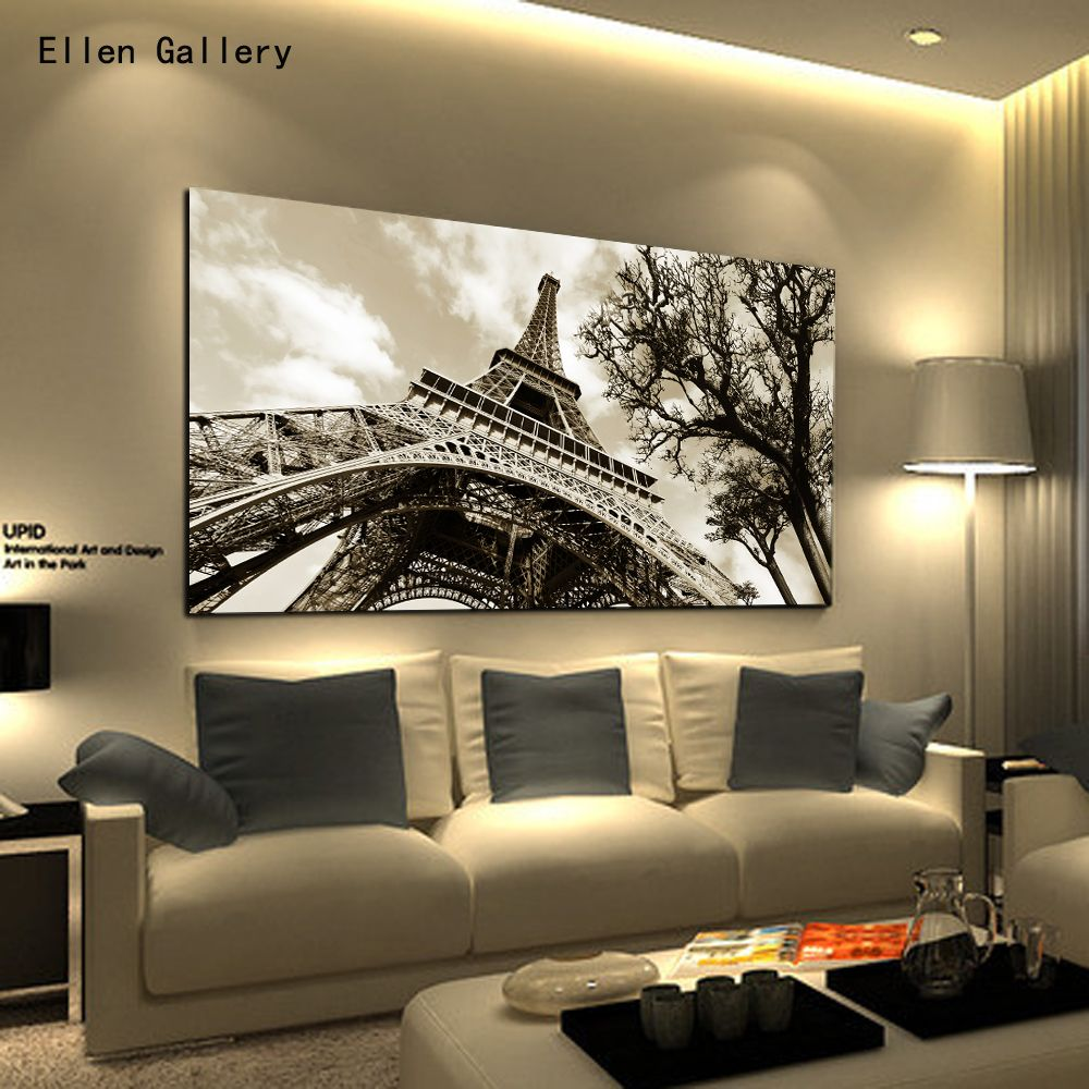 Home Decor Wall Art Canvas Painting Wall Pictures For Badroom Quadro  Cuadros Decoration Paris City Eiffel