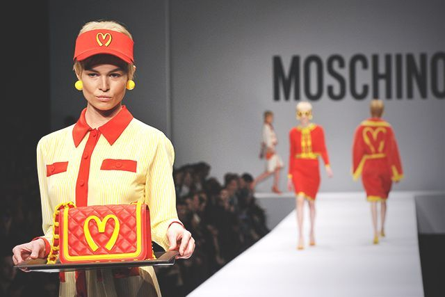 This $1,000 McDonald's-Inspired Dress Is About More Than Income Inequality Moschino's new collection apes not just the Golden Arches but American consumer culture on the whole.