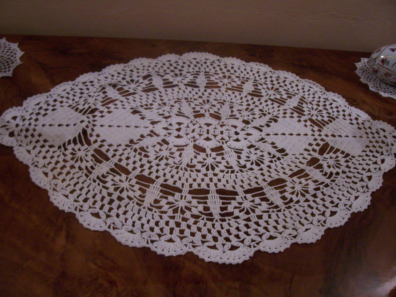 Pineapple Crochet Doily Diagram Car Starter Wiring Easy Patterns Free Oval