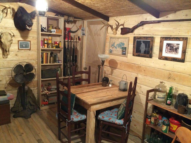 Storage Sheds Turned Into Man Caves This Guy Built A Rustic Cabin Man Cave For 107 Twistedsifter Rustic Man Cave Small Room Design Rustic Cabin
