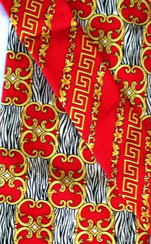 fb80eb47 1990s Versace tie Couture Regal Baroque jewel tone silk Vintage Mens ...