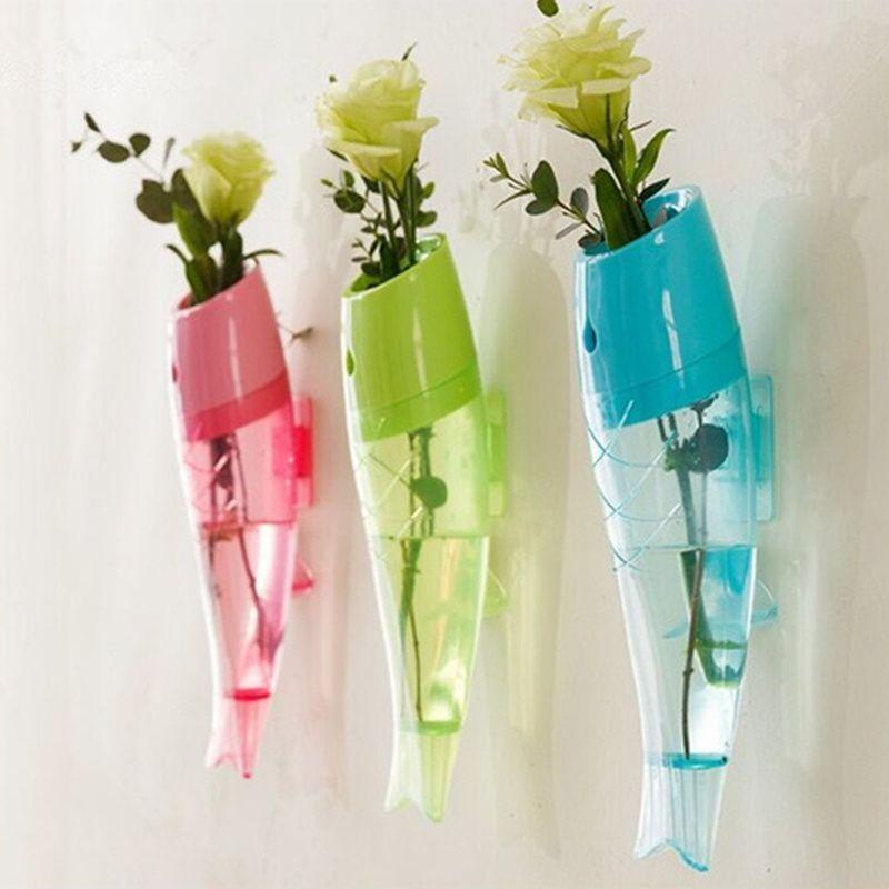 Fish Shaped Wall Mounted Vase Decorative Flower Vase For Wedding