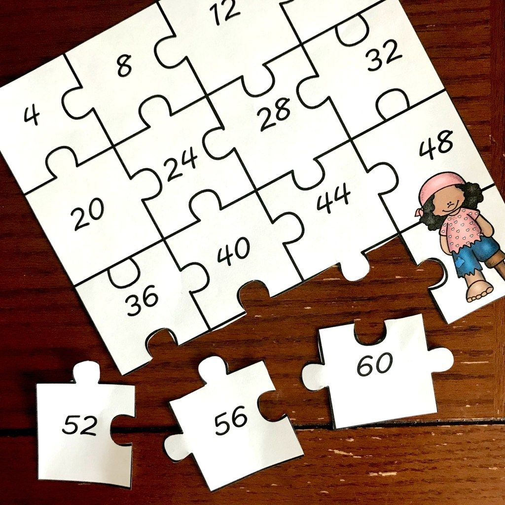 15 Skip Counting Puzzles To Build Schema For