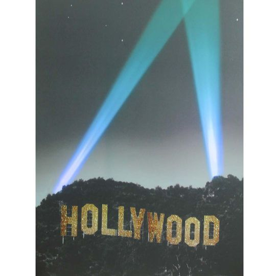 LED Lighted Hollywood Sign with Spot Lights Wall Art in 2019