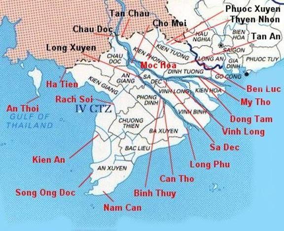 The Brown Water Navy In Vietnam Vietnam War USCG WIA - Us coast guard bases map