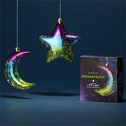 Moonlight LED Light Up Hanging Mercury Glass Ornament