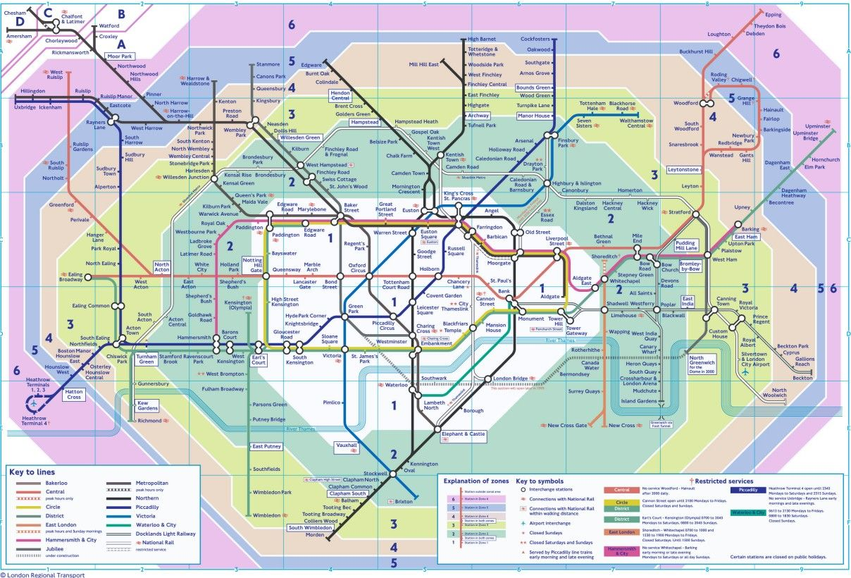 What Lies Beneath Map Of Zones In London  LONDON MAPS  Pinterest