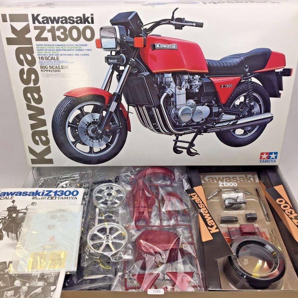 Tamiya Kawasaki Z1300 1 6 Big Scale Motorcycle Plastic Model Kit No 16019 Plastic Model Kits Model Kit Plastic Models