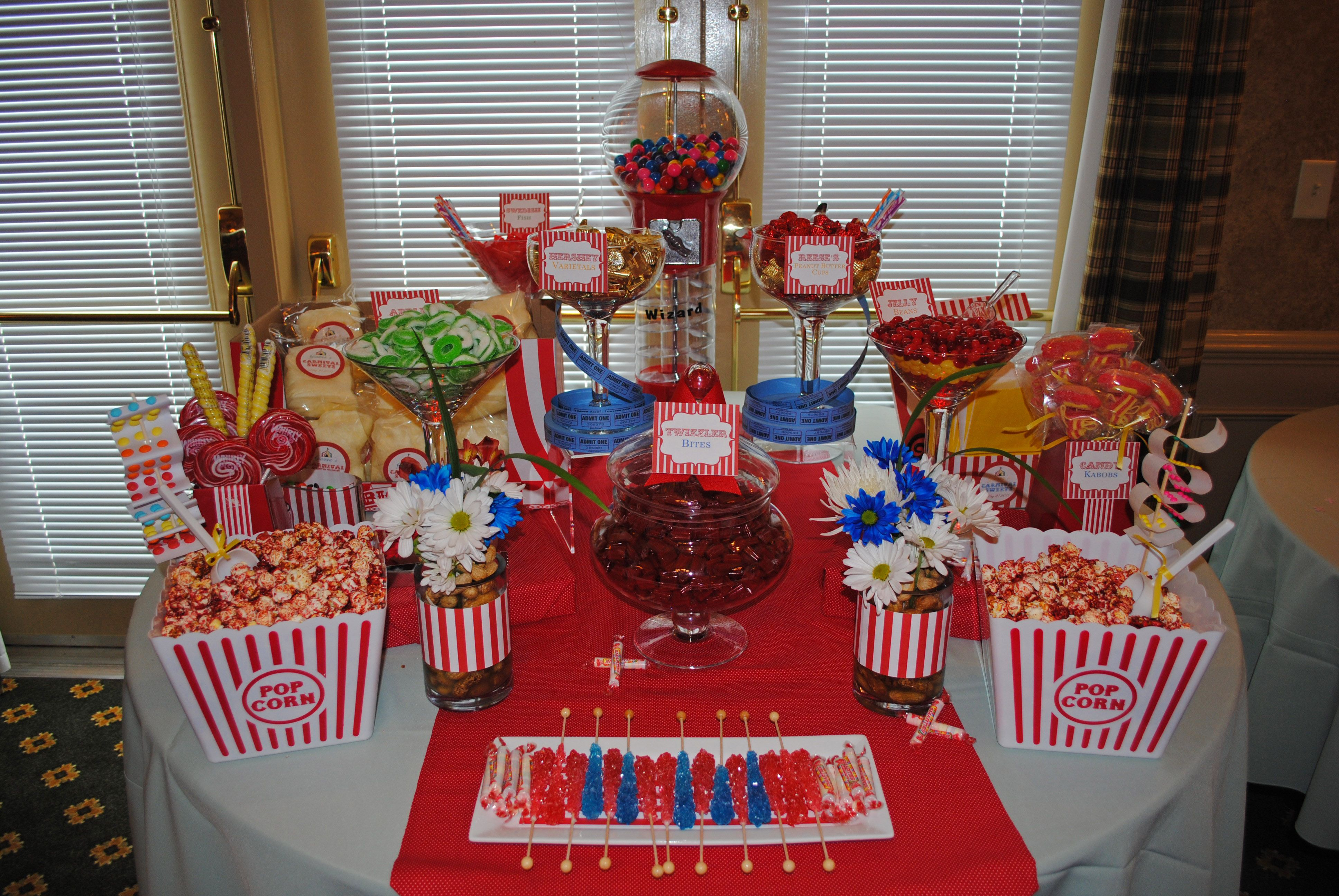 Candy Kabobs Cw Distinctive Designs Red Candy Buffet Candy Buffet Tables Candy Buffet Birthday Party