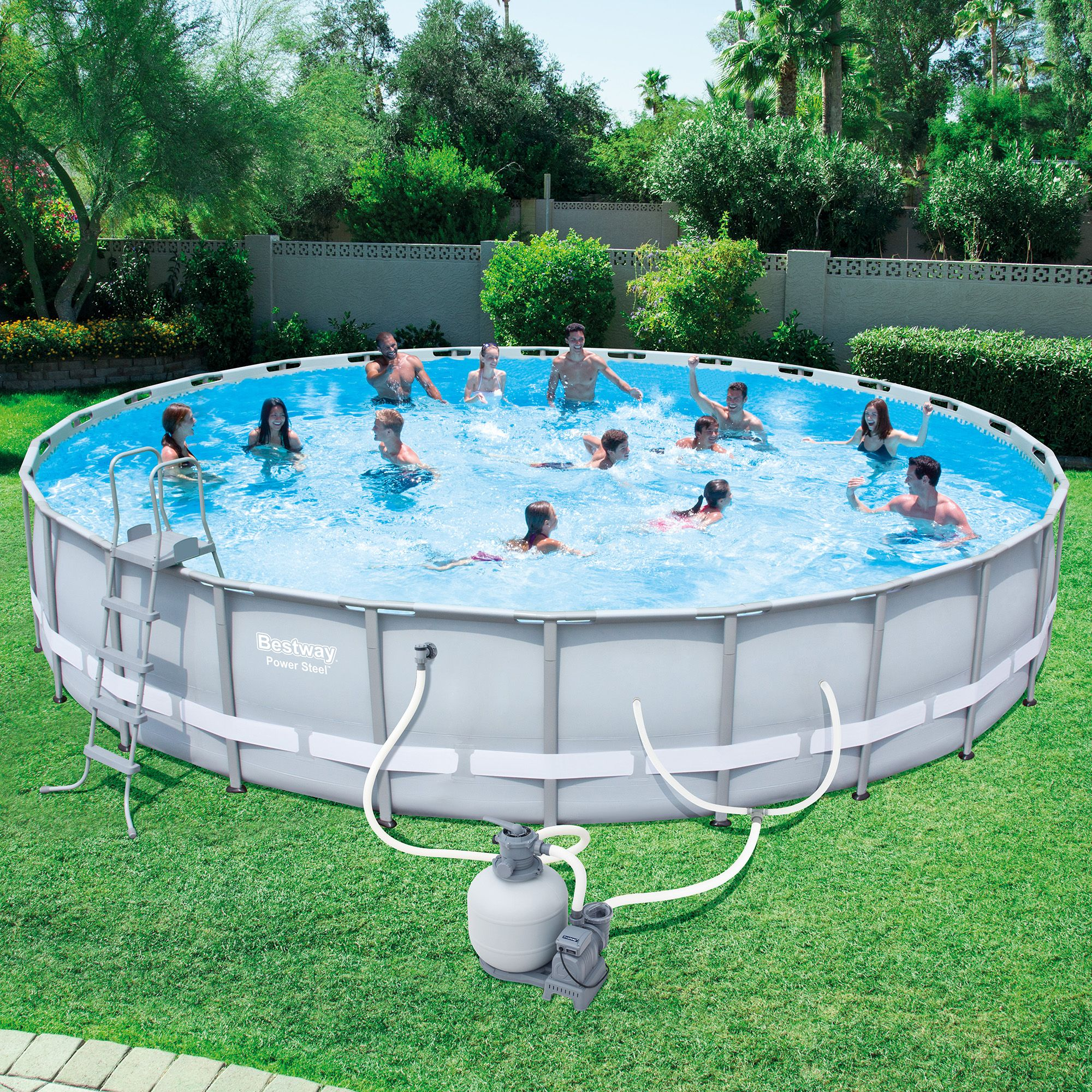 Bestway Steel Pro 26-Foot x 52-Inch Frame Pool Set | Pinterest
