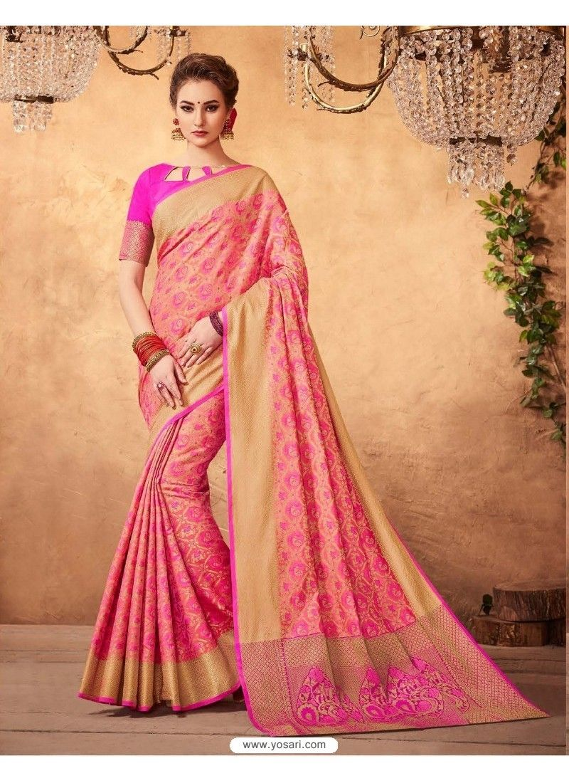 Awesome Peach Patola Silk Saree  Pinterest  Silk sarees Saree and