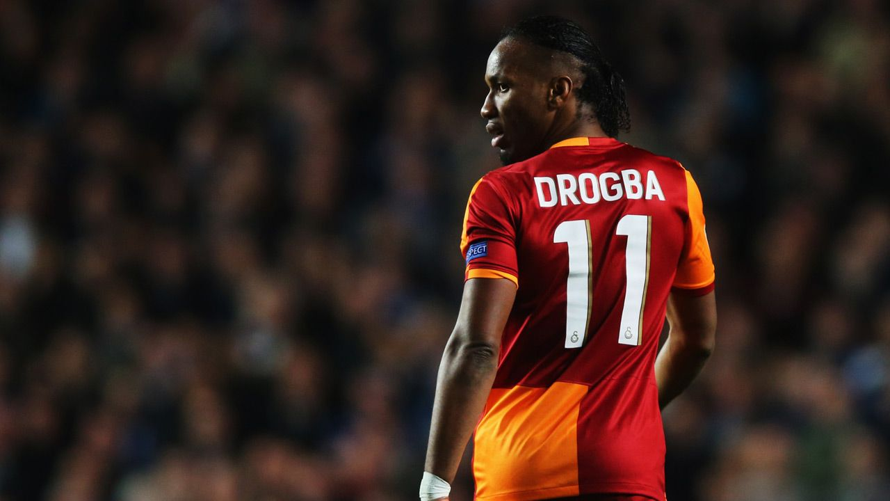 Didier Drogba of Galatasaray of Chelsea FC