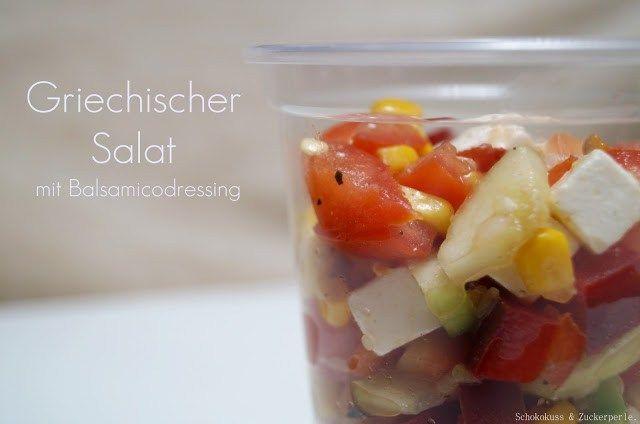 Griechischer Salat • Schokokuss und Zuckerperle