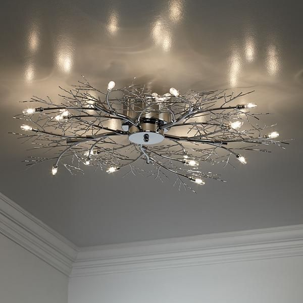 modern branch chrome possini euro design ceiling light - Possini Euro Design