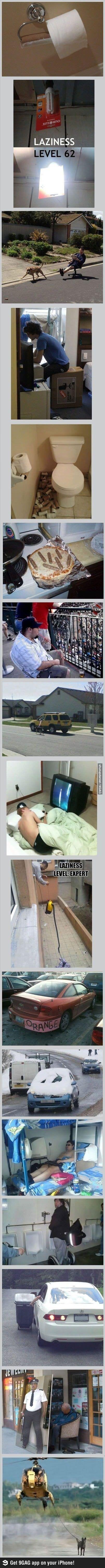 Level of Laziness over:9000