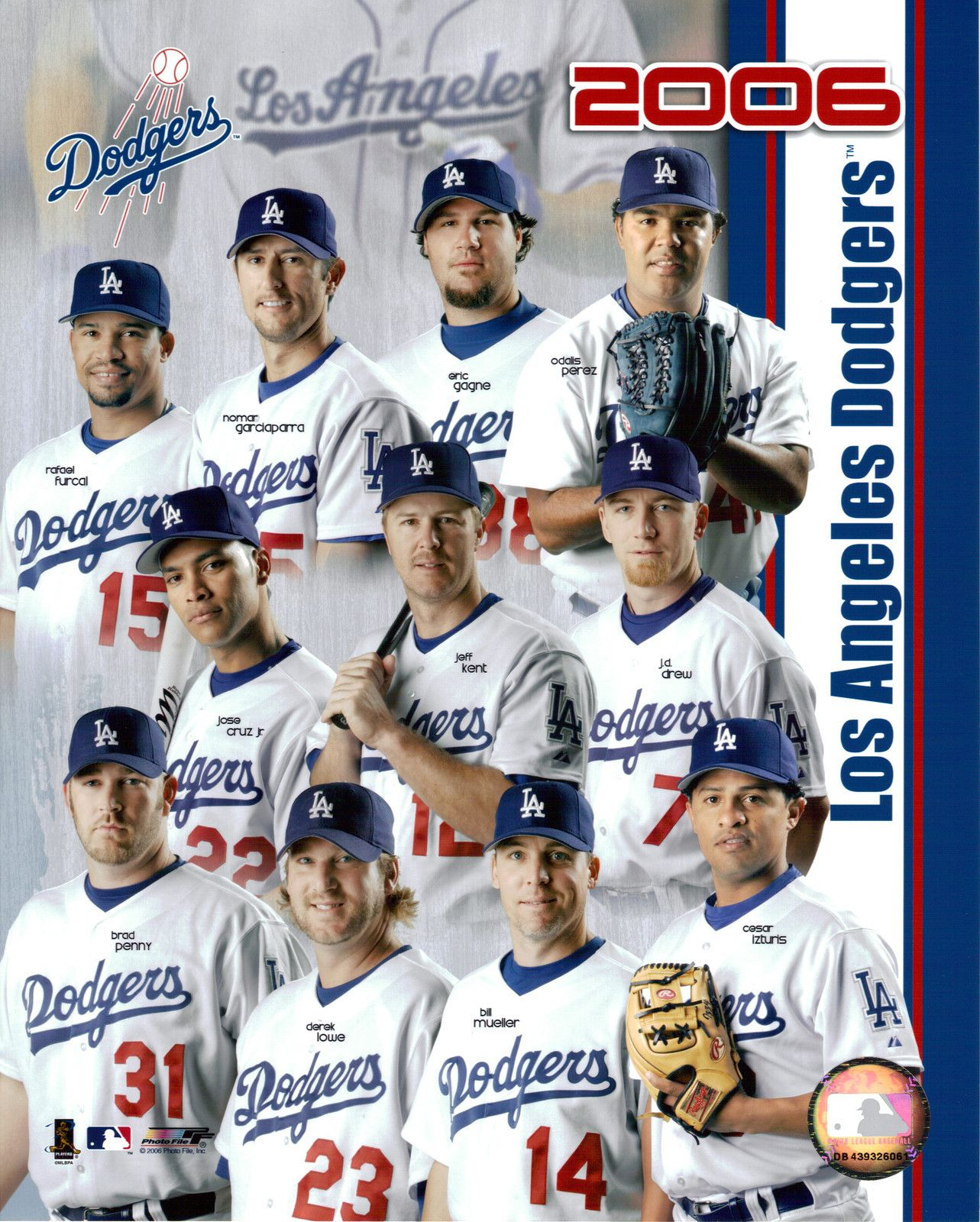 Los Angeles Dodgers 2006 Team Photo 8x10 Color Glossy Dodgers