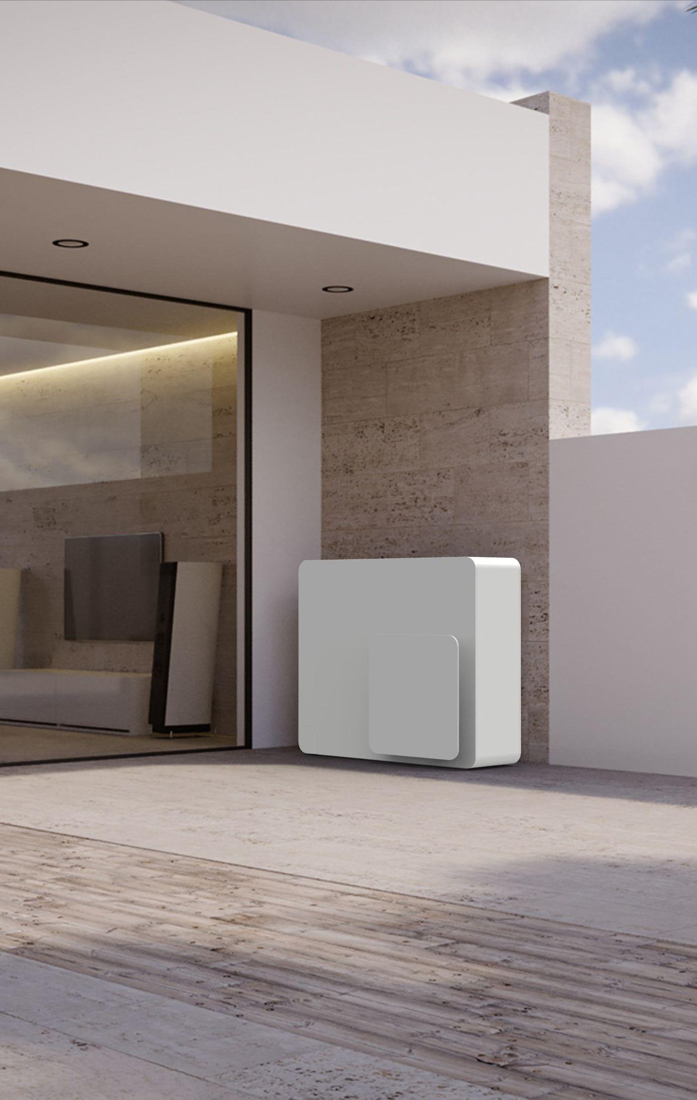 STØNE Air to water metal Heat pump Architettura
