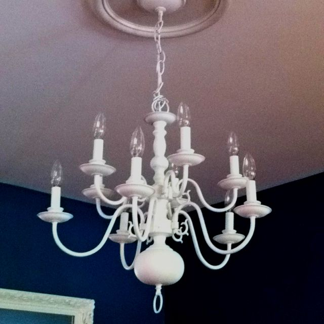 Spray Painted My Craigslist Chandelier Now I M Spray