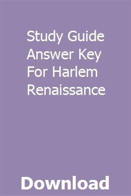 Study Guide Answer Key For Harlem Renaissance pdf download ...