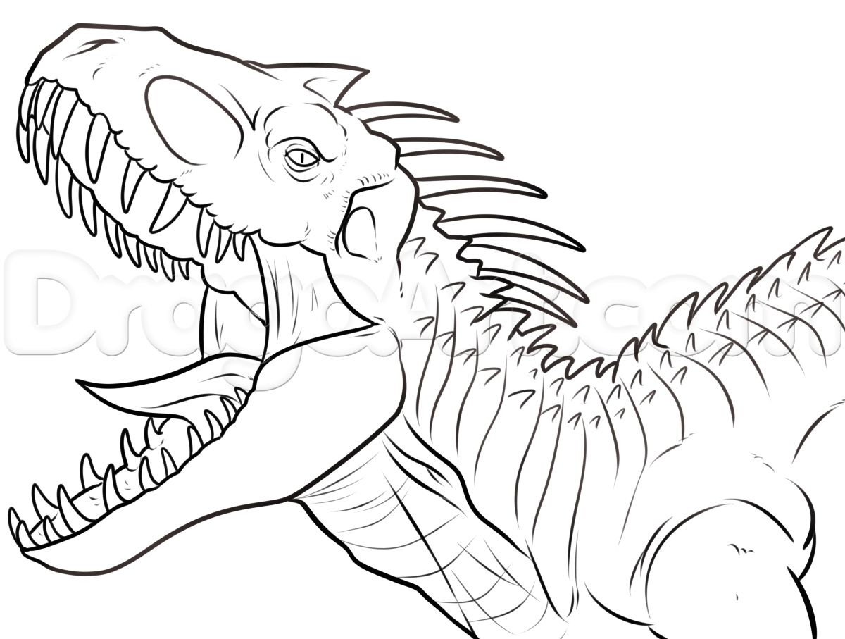 Indominus Rex Coloring Page Hybridindominusrexcoloringpage Indominusrexcoloringpage Jurassicworl Dinosaur Coloring Pages Dinosaur Coloring Dinosaur Drawing