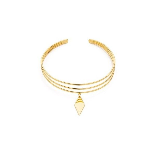 Vanessa Mooney The Blondie Choker Necklace (160 CAD) ❤ liked on Polyvore featuring jewelry, necklaces, gold, pendant necklace, vanessa mooney, vanessa mooney jewelry, diamond shaped necklace and pendant jewelry