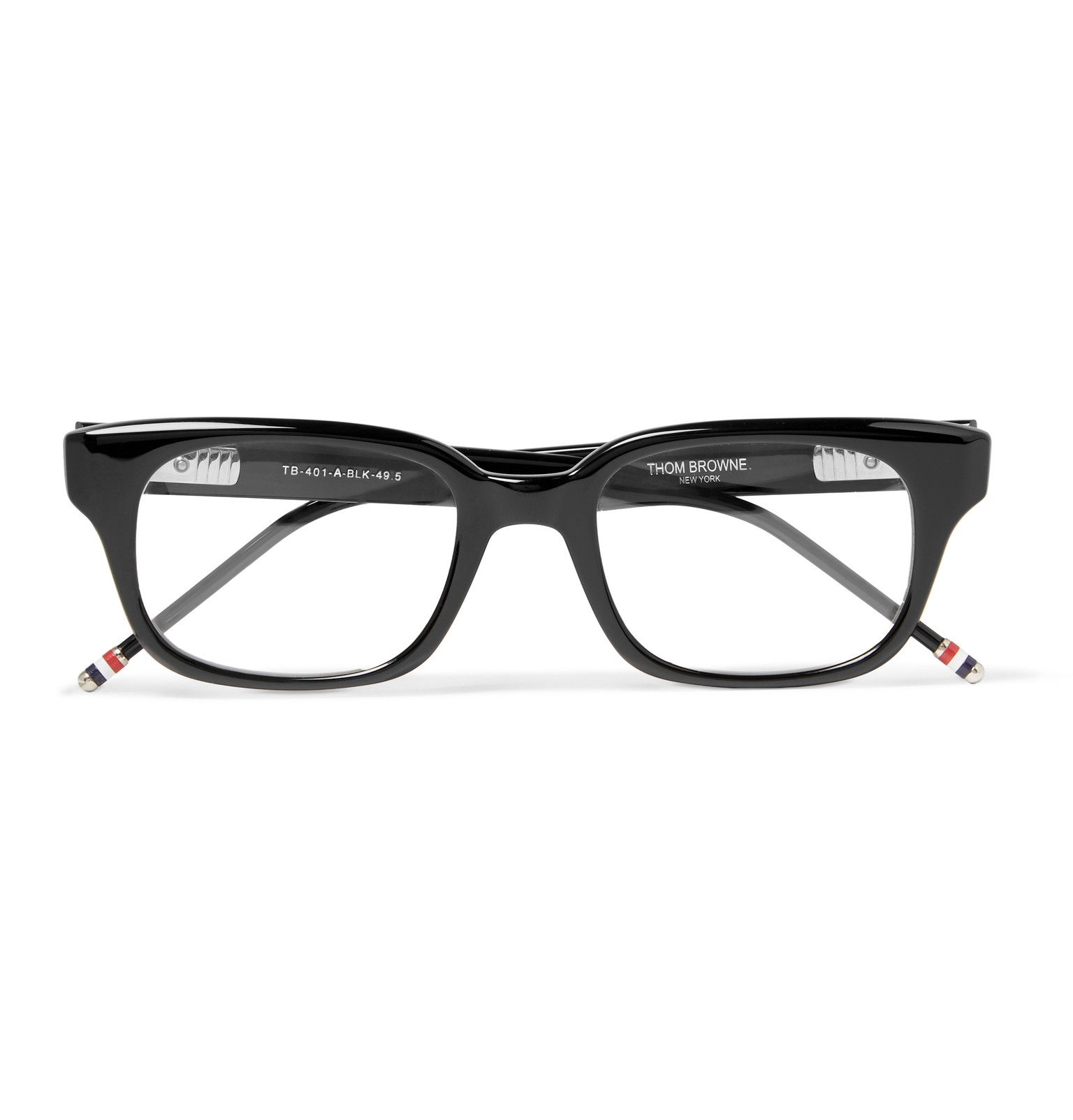 Thom Browne Is Inspired By The Classics From Books And Movies To The People In The Streets Of New York City These Black Acetate Frame With Images Designer Glasses For Men