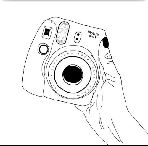 image result for polaroid camera coloring page drawing pinterest
