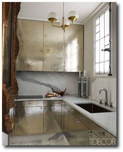 Hammered Metal Kitchen Cabinets, Keywords: Designer Kitchens, Cabinet  Hardware Ideas, Paint Colors