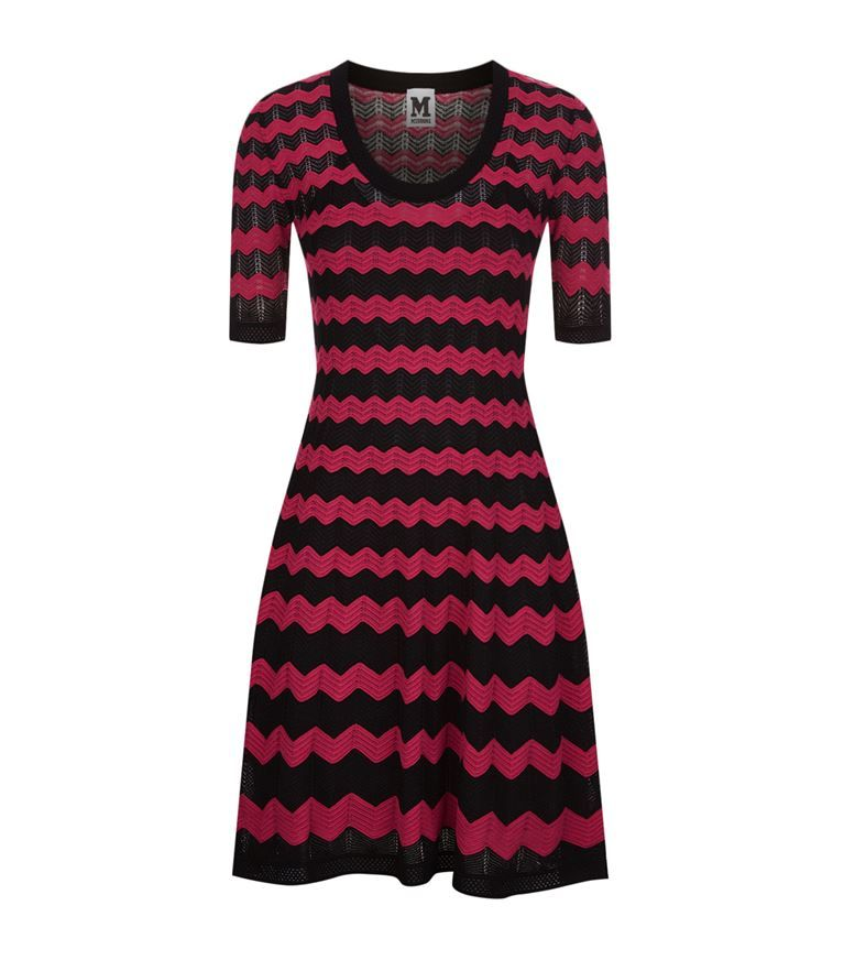 M MISSONI. Scoop Neck DressZig ZagFlare DressMini DressesShort  SleevesDressingMissoniShopKnit Dress