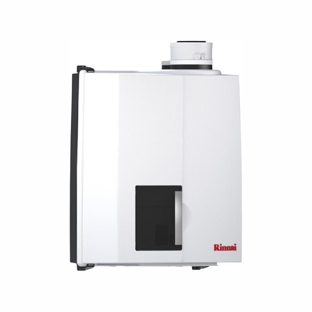 Rinnai E Series Natural Gas Condensing Boiler Tankless Water Heater With 50 000 Btu Input White Boiler Water
