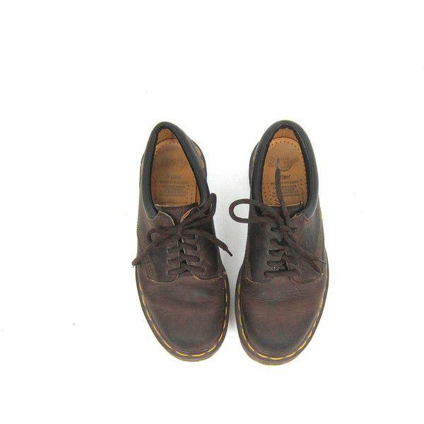 des morceaux de cuir brun vintage doc martens en en en dentelle oxfords 4b8295