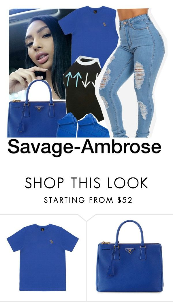 """""""At UpUpDownDown and I got a free tshirt """" by savage-ambrose ❤ liked on Polyvore featuring October's Very Own, Prada, NIKE, theflash, NiyaSets and Cheniya"""