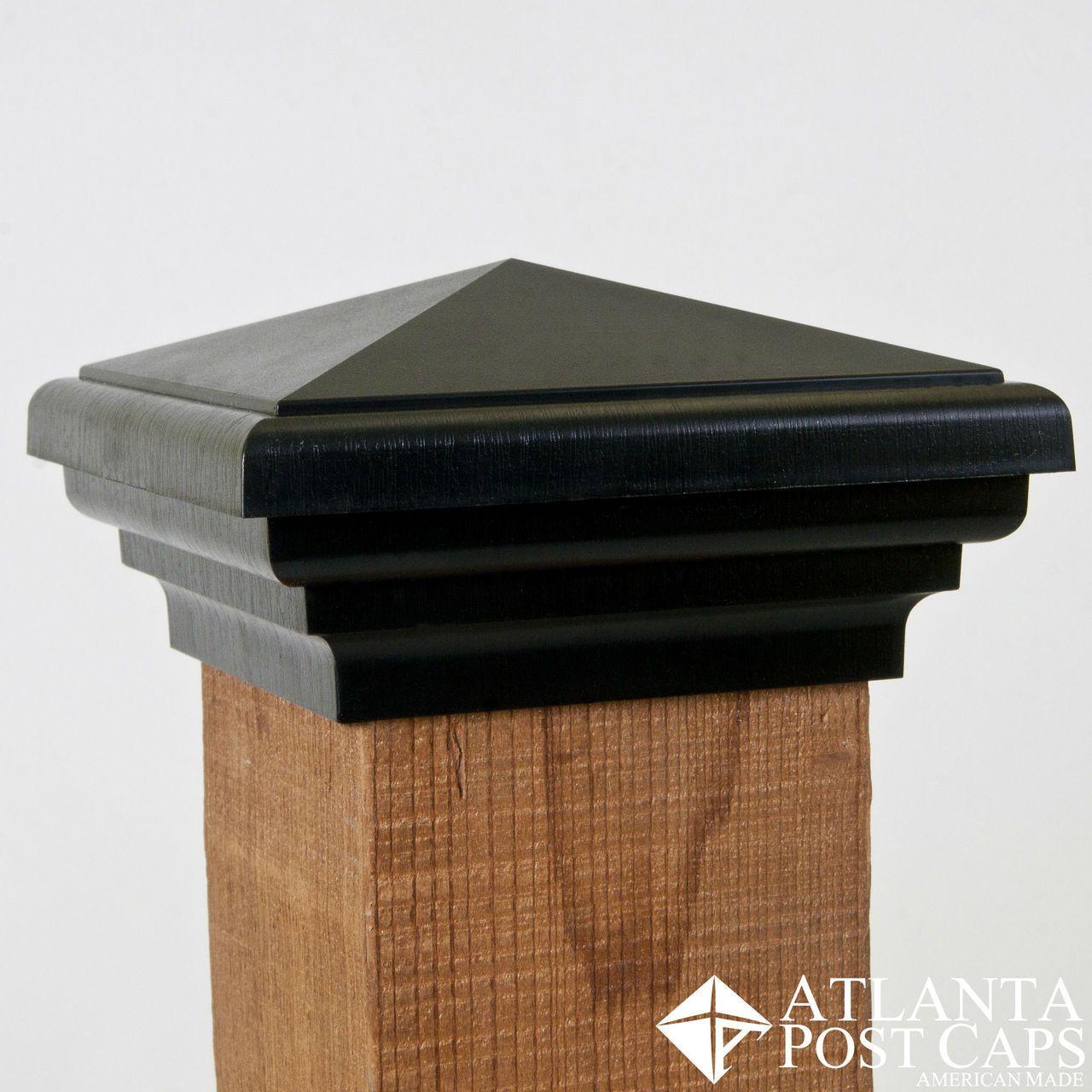 4x4 Post Cap Black Pyramid Top Fence Post Caps Privacy Fences Deck Post Caps