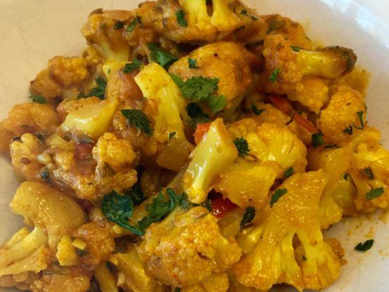 Gobi Ki Sabzi Dry Cauliflower Curry Recipe Food Com Recipe Recipes Curry Recipes Cauliflower Dishes