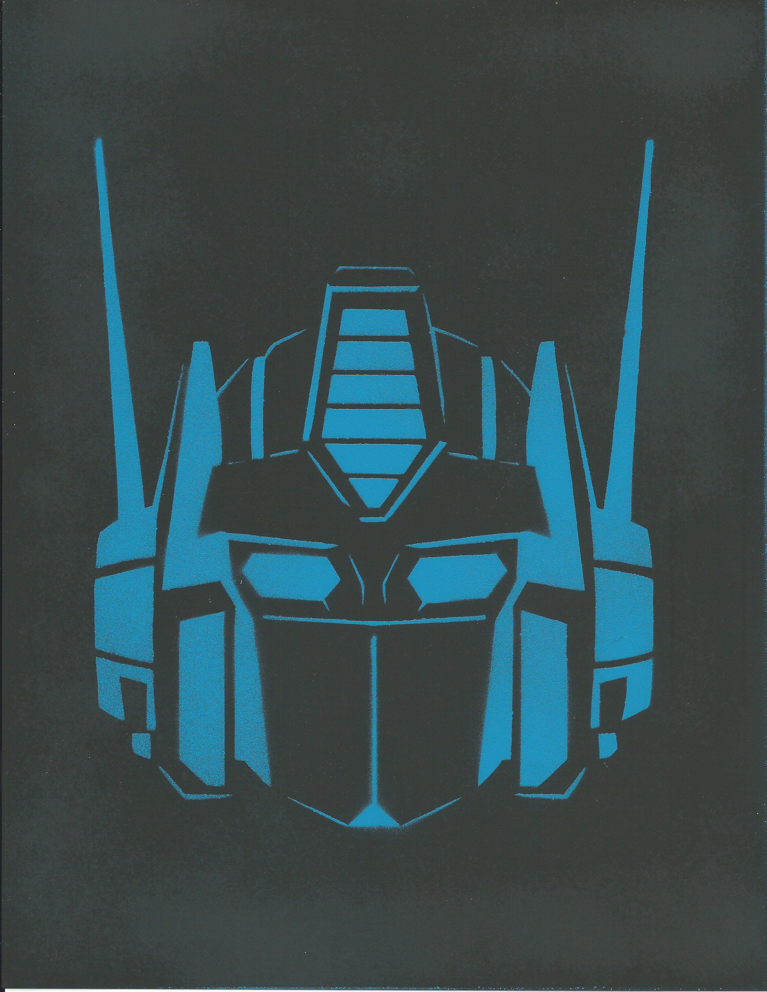 Optimus Prime Pumpkin Pattern 3