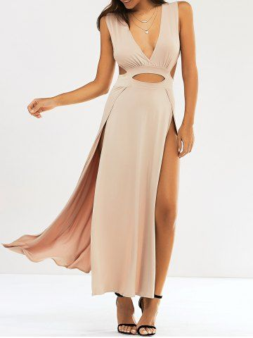 GET $50 NOW | Join RoseGal: Get YOUR $50 NOW!http://m.rosegal.com/club-dresses/fashion-plunge-neck-cut-out-high-slit-maxi-dress-629091.html?seid=7001531rg629091